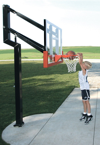Adjustable basketball goal